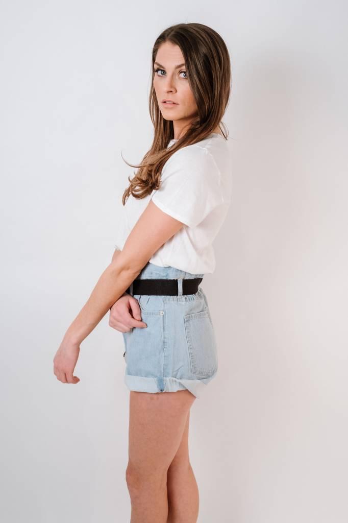 Shorts Belted Denim Shorts