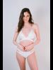 Bikini White Side Slit Bottom