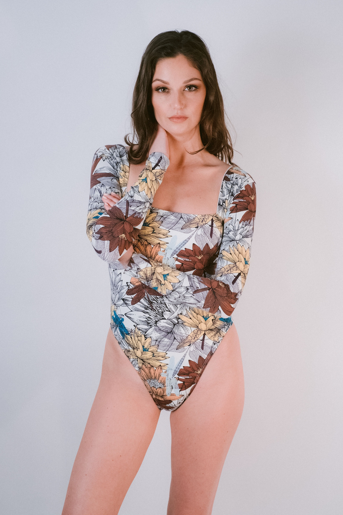 Bodysuit Lotus Long Sleeve Swim Suit