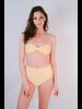 Bikini Yellow Eyelet Bandeau Top