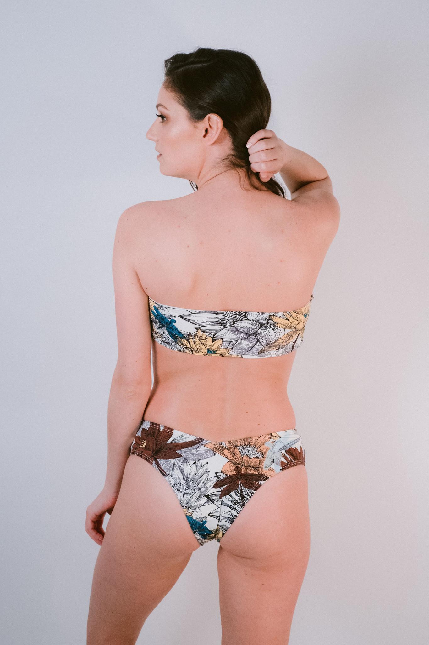 27d6e816109 Lotus Bandeau Bikini Top - Bobbles and Lace