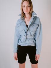 Jeans Belted Denim Jacket