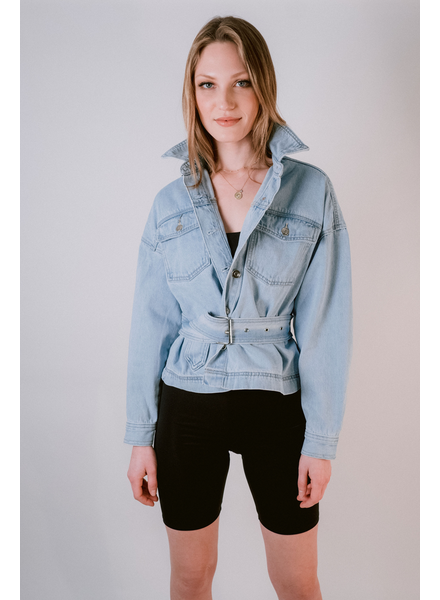 Jeans Belted Denim Jacket