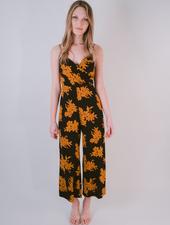 Dressy Orange Floral Jumpsuit