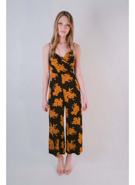 Dressy Orange Floral Jumpsuit