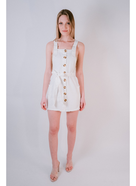 Midi Denim Overall Dress