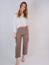 Pants Linen Belted Cargo Pants