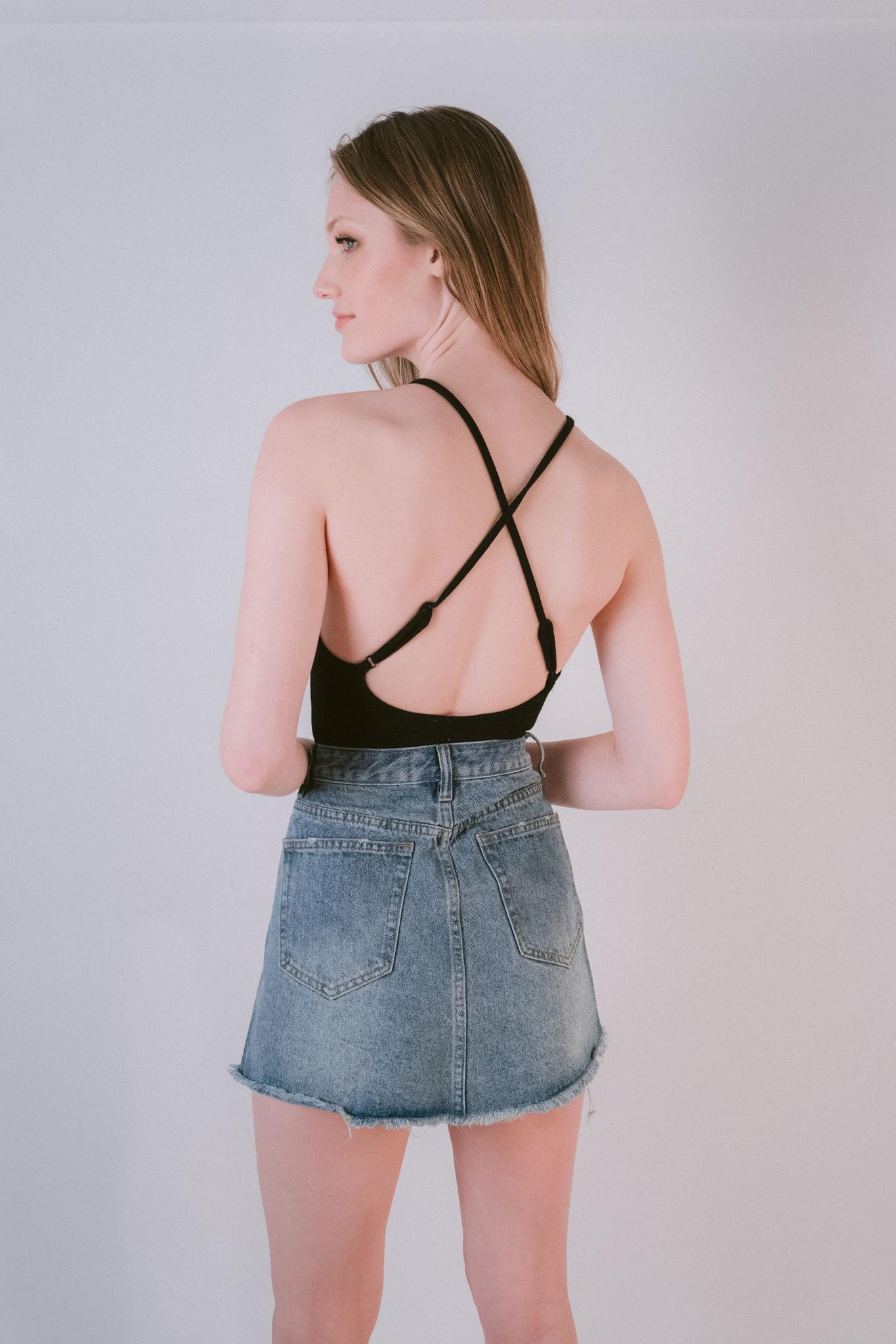 Bodysuit Cross Back Bodysuit