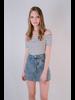 Skirt Cutoff Denim Mini