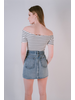 Skirt Cutoff Denim Mini