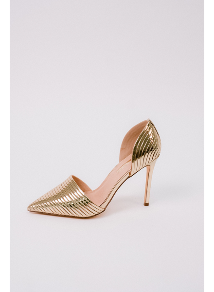 Pump Gold Ribbed Pump