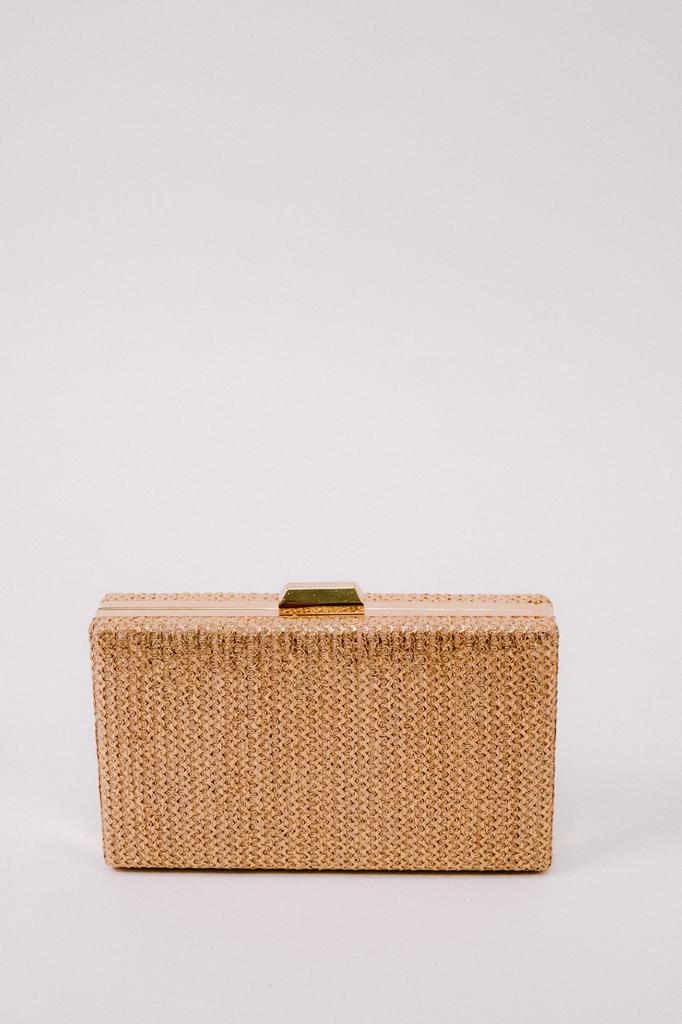 Clutch Golden Tweed Clutch