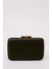 Clutch Black Hardshell Metallic Clutch
