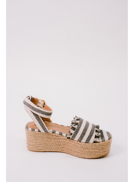 Wedge Frayed Edge Espadrilles