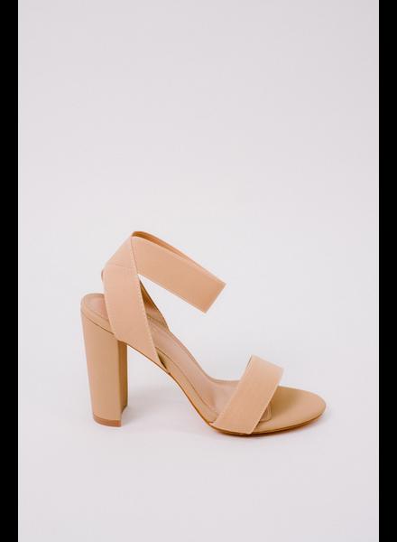 Pump Nude Ankle Wrap Heel