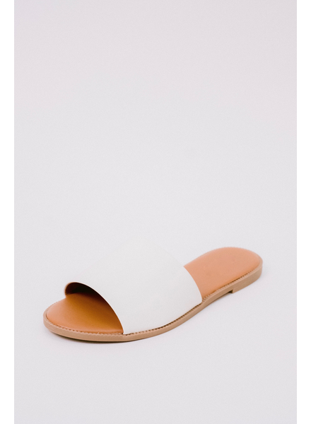 Sandal White Slide