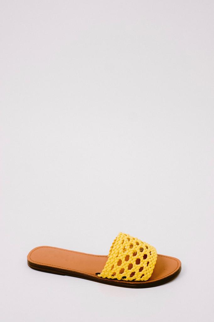 Sandal Yellow Braided Slide