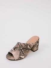 Sandal Snake Print Mule