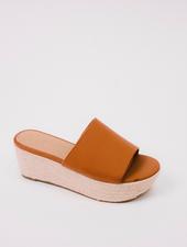 Sandal Cognac Platform Slide