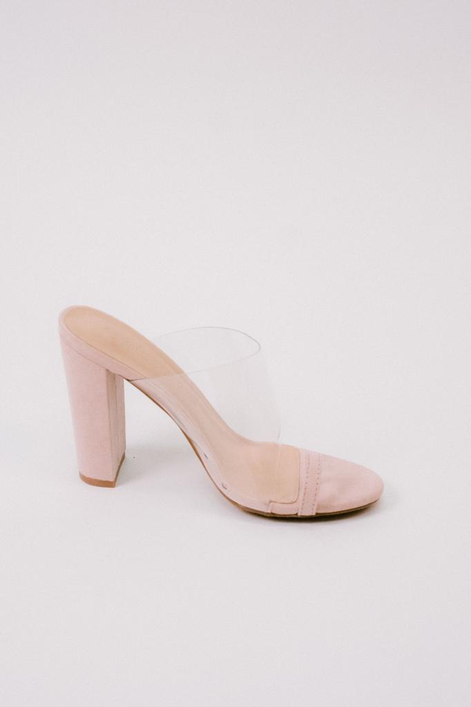 cfe7276ec448 Transparent Toe Wrap Mule - Bobbles and Lace