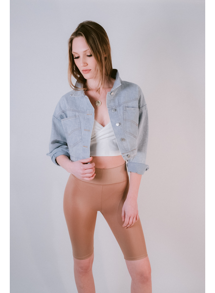 Lightweight Lightwash Cropped Jean Jacket