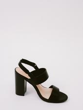 Sandal Black Sling Back Block Heel