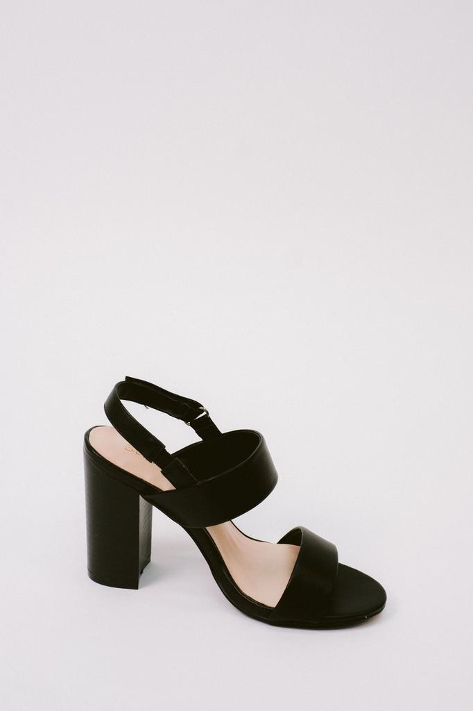 Black Sling Back Block Heel