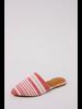 Flat Red Striped Mule