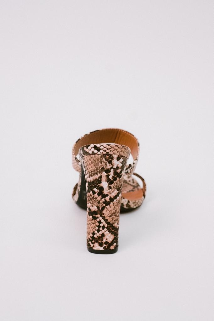 Sandal Snake Print Heel