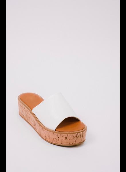 Sandal Cork Platform Slide