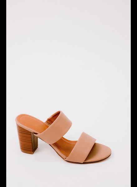 Sandal Taupe Block Heel Slide