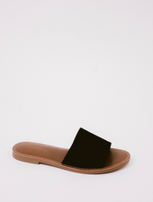 Sandal Black Simple Slide