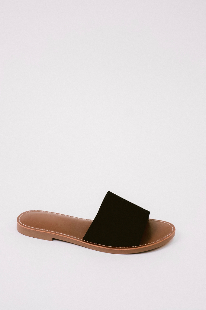 Sandal Black Simple Slide