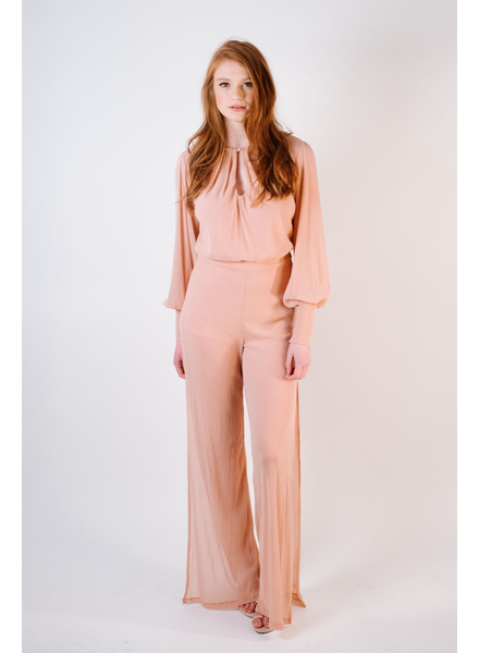 Jumpsuit Glittered Slit Leg Jumpsuit