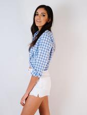 Shorts White Peek-a-Boo Pocket Shorts