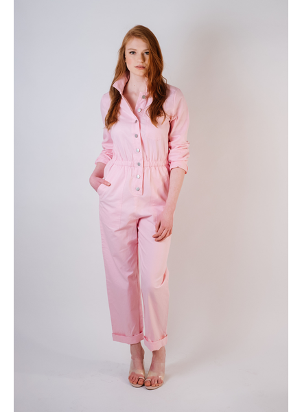 Casual Pink Utility Jumpsuit