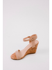 Wedge Taupe Strap Cork Wedge