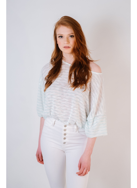Knit Mint Striped Knit