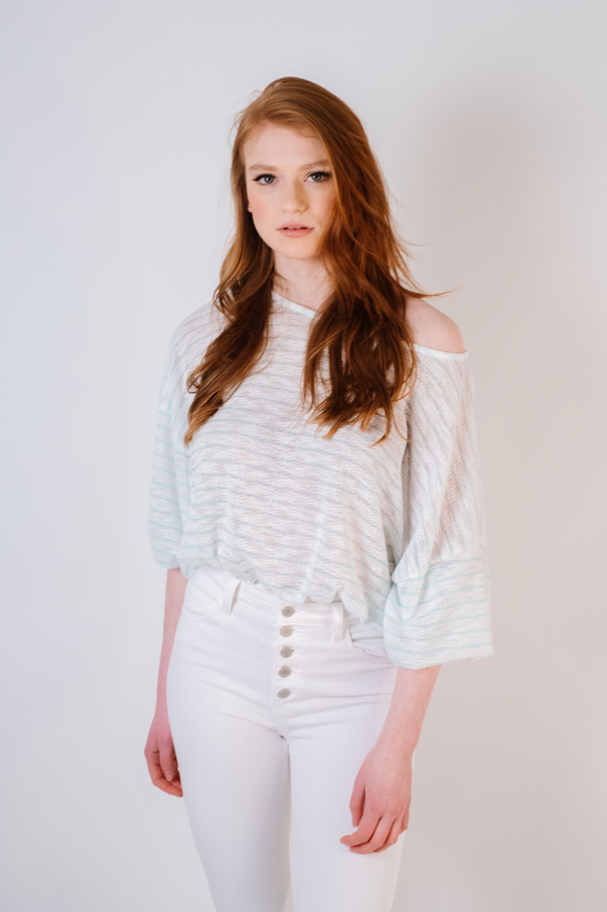 Knit Mint Striped Knit