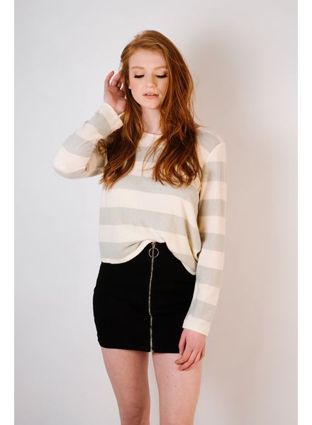 Knit Open Tie Back Top