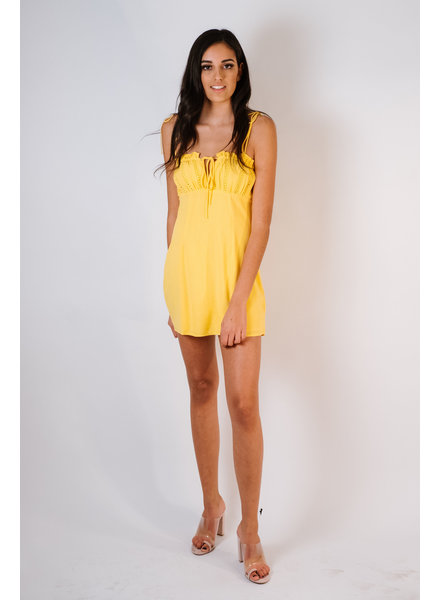 Mini Daffodil Tie Shoulder Dress