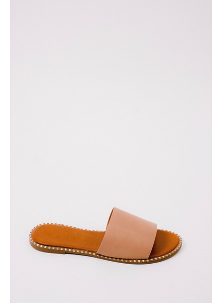 Sandal Gold Trim Slide