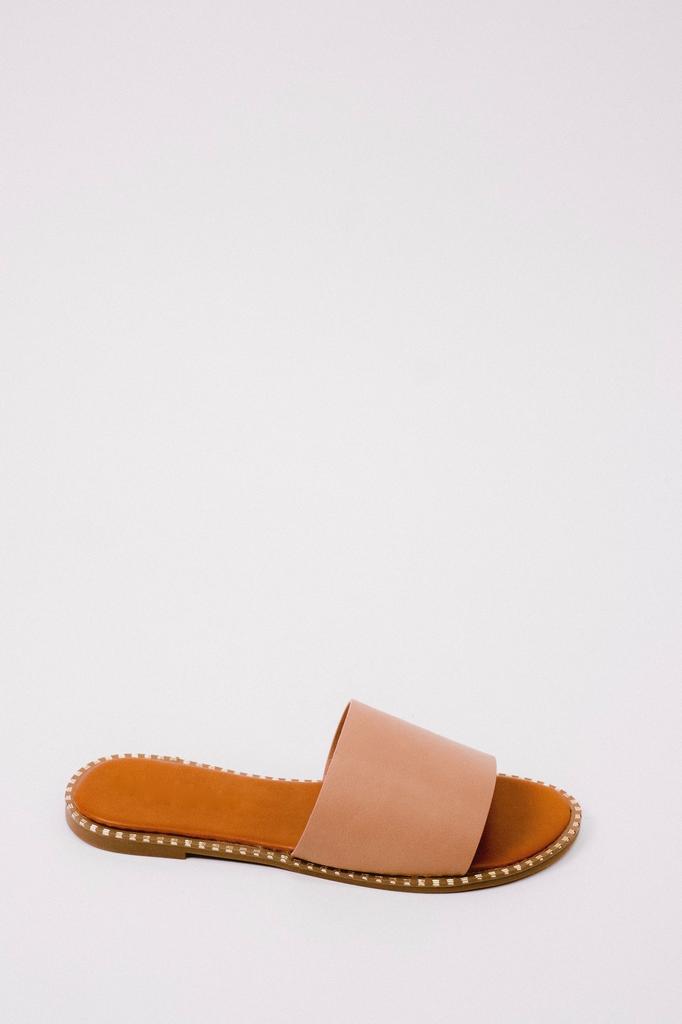 Sandal Gold Trim Slide