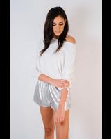 Shorts Silver Track Shorts
