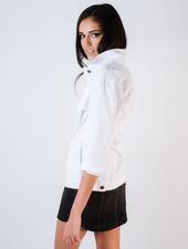 Jeans White Belted Jean Jacket