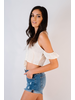 Crop Vintage Cream Flutter Crop