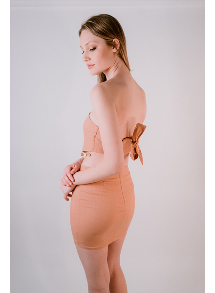 Skirt Apricot fitted mini skirt