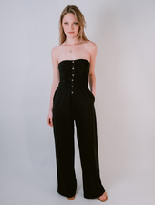 Casual Jersey Strapless Jumpsuit