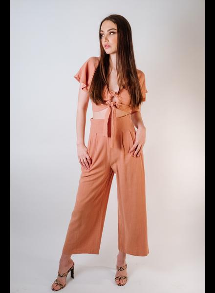 Pants Mauve Rayon Culottes