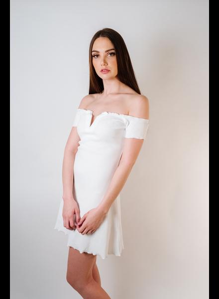 Mini White Mini V Dress
